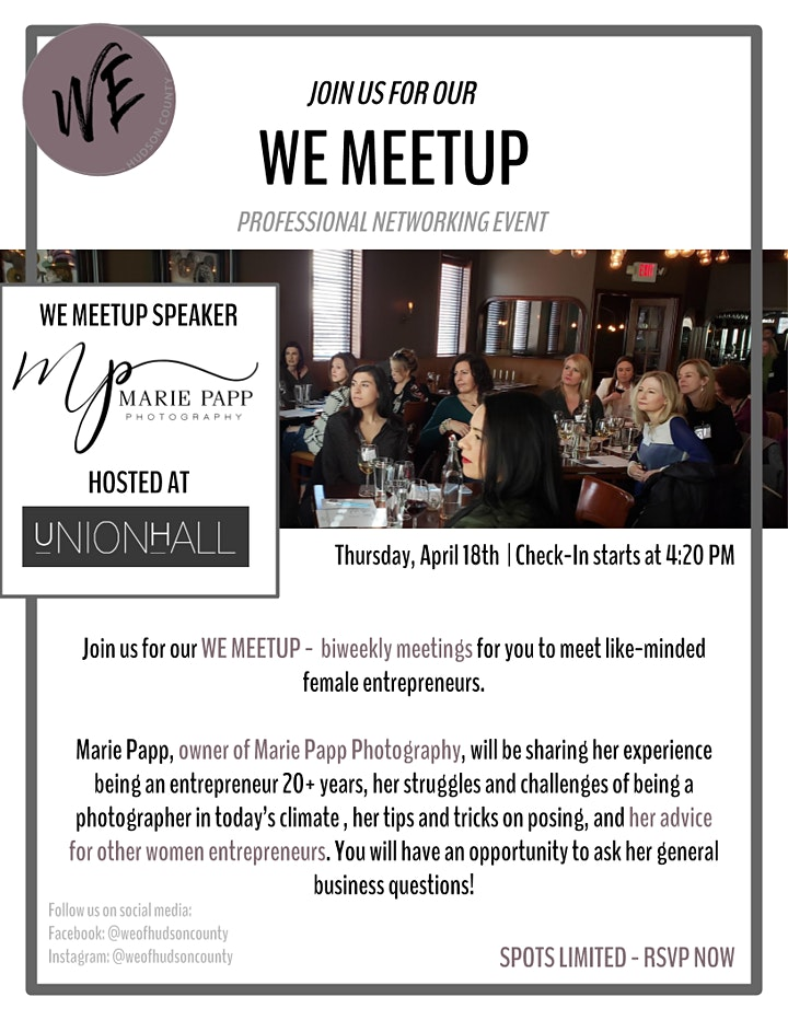 WE Meetup 4/18 image