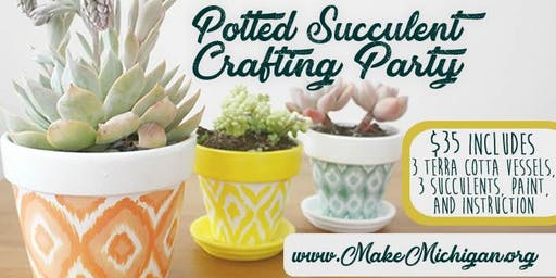 Potted Succulent Crafting Party - Paw Paw