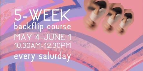 5 Week Backflip Course at SharedSpace tickets