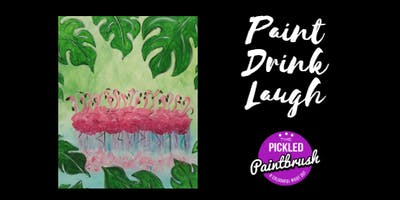 Painting Class - Flamingos - May 3, 2019*