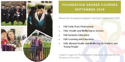 Open Evening: New Foundation Degrees in Northolt (September 2019)