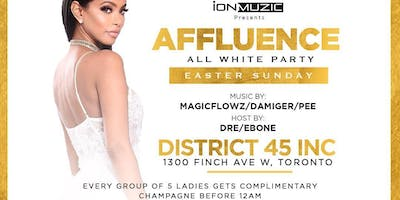 AFFLUENCE - ALL WHITE PARTY