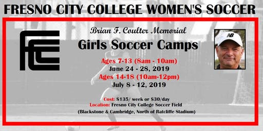 Fresno City College Girls Soccer Camp (ages 7-13)
