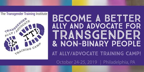 Transgender Ally/Advocate Training Camp - October 24-25, 2019 tickets