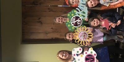 Parent and Child Monogram Paint Party