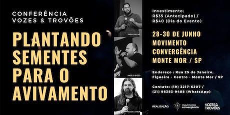 Conferência Vozes e Trovões - Monte Mor ingressos