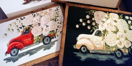 Flower Truck Paint Class tickets
