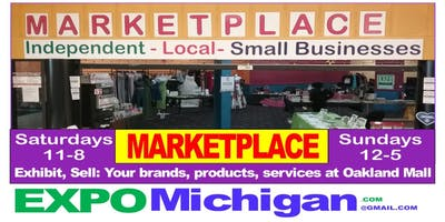 "MARKETPLACE, Oakland Mall, ""Show & Sell"", local businesses, services, crafters, direct sales"