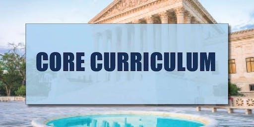 CB Bain | Core Curriculum (3 CH-WA) | New Traditions, Van | September 12th 2019