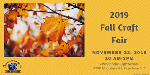 2019 Fall Craft Fair - CHS Band Boosters
