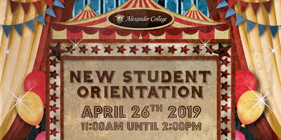 New Student Orientation - Spring 2019