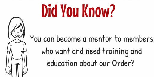2019 CA OES Membership Certified Mentor Workshop