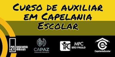 Curso de auxiliar em Capelania Escolar - MPC SP ingressos