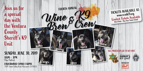 Wine, Brew & K9 Crew tickets