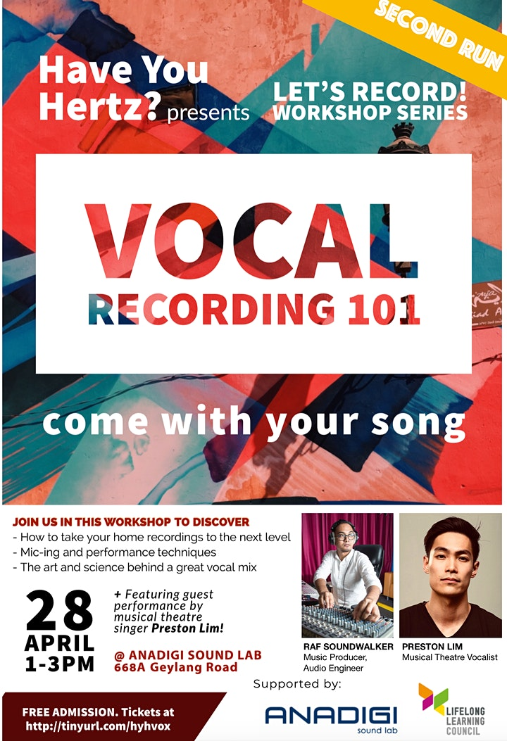 LETS RECORD! - Vocal Recording 101(2nd Run) image