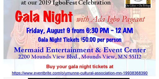 IgboFest 2019 Gala Night with Ada Igbo Pageant.