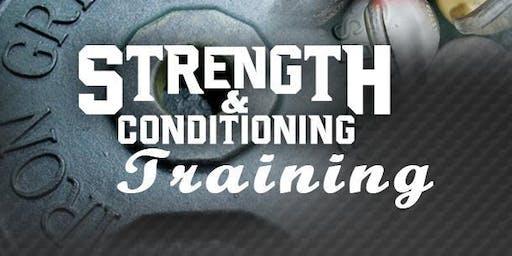 Strength & Conditioning Training - October - December