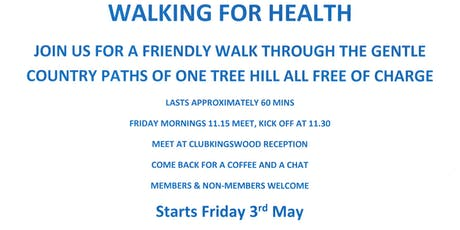 WALKING FOR HEALTH tickets