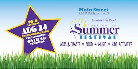 August 24 Torrington Summer Festival tickets