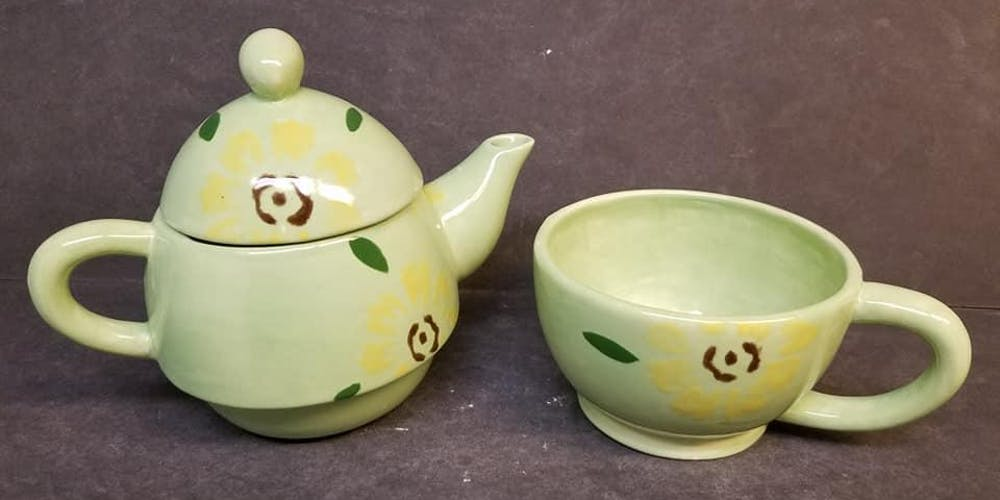 Mother S Day Pottery Paint Tea Pot Tea Cup Tickets Sat May 11
