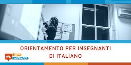 Giornata di Orientamento per Insegnanti di Italiano tickets