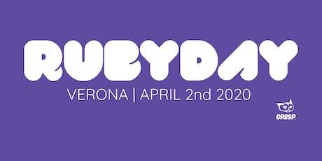 rubyday 2020 biglietti