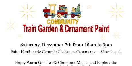 Annual Train Garden and Christmas Ornament Paint tickets
