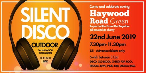 Outdoor silent disco - Come and celebrate saving the green!