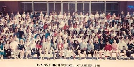 Ramona High School - Riverside, Class of 1989 - 30th Class Reunion tickets