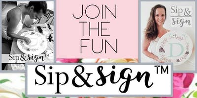 Sip and Sign Event 80's Style