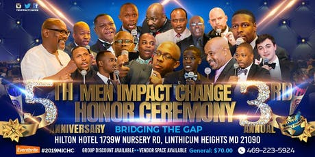 Men Impact Change 5th Year Anniversary Gala tickets