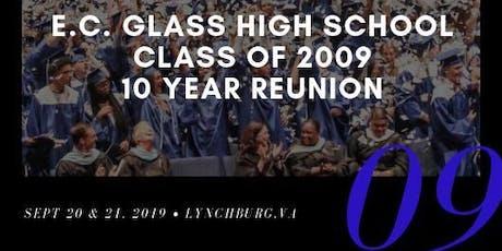 E.C. Glass High School Class of 2009    10 Year Reunion tickets