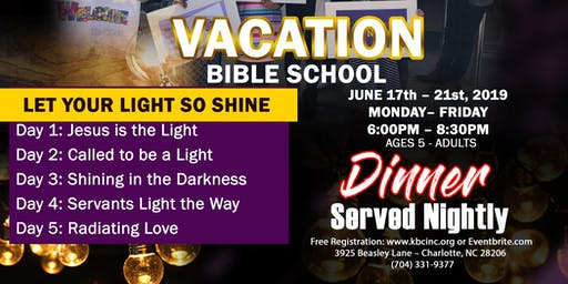 VACATION BIBLE SCHOOL at Kingdom Builders