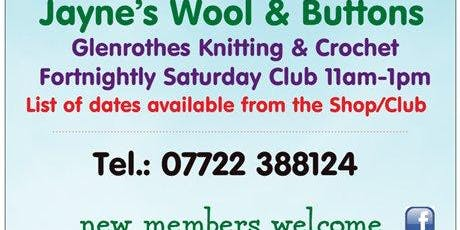 Jayne's Wool & Buttons Fortnightly Saturday Opening 11am-1pm