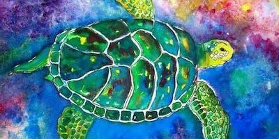 Colourful Sea Turtle - Art Class