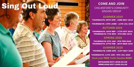 Community Singing Group - Sing Out Loud, Chelmsford - Taster Sessions tickets
