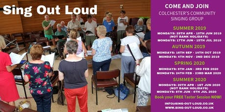 Community Singing Group - Sing Out Loud, Colchester - Taster Sessions tickets