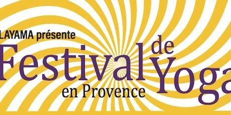 Festival de Yoga en Provence 2019 billets