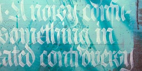 Désintox numérique: atelier de calligraphie Fraktur billets