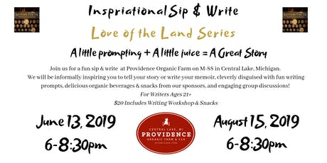 Sip & Write: August Love of the Land tickets