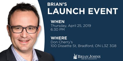 Brian Johns Campaign Launch