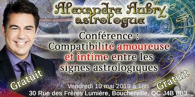 Compatibilité amoureuse et intime entre les signes astrologiques