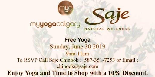 Free Yoga - Saje Natural Wellness Chinook Centre