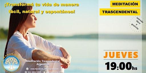CABA, Jueves 19:00 horas - Charla Informativa sobre Meditación Trascendental