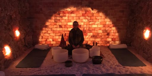 Shamanic Sound Journey in the Salt Cave with Crystal Bowls