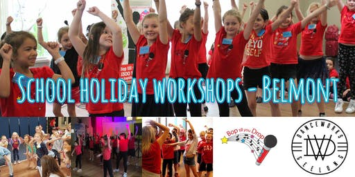 2019 July Bop till you Drop & DanceWorks Geelong School Holiday Performance Workshop for Children - BELMONT (2 days) BOOK EARLY AND SAVE!