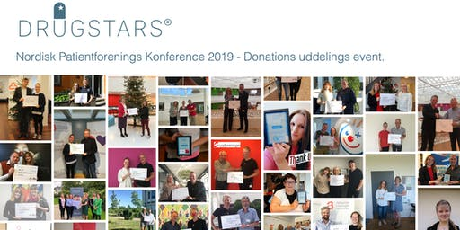 Nordisk Patientforenings Konference 2019 - DrugStars Donations Uddeling