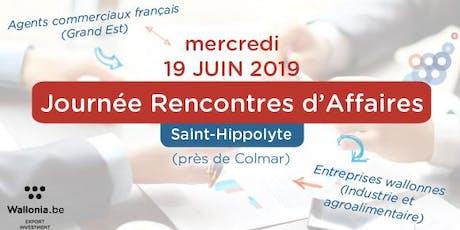 Convention d'affaires agents commerciaux 19/06/2019 - Région Grand Est de la France  billets