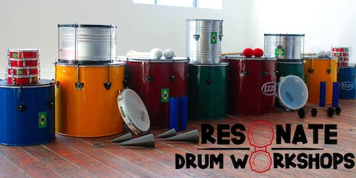 1-hour Drumming Workshop with Resonate  2PM-3PM