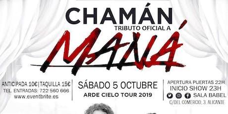 Chamán. Tributo oficial a Maná en concierto. entradas